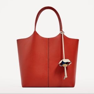 Zara Tote bag with flower pendant.